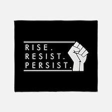 Rise. Resist. Persist. Throw Blanket