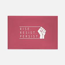 Rise. Resist. Persist. Rectangle Magnet