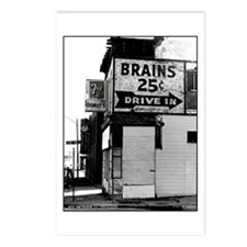 Brains, 25 cents Postcards (Package of 8)