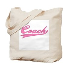 Coach Pink Text Tote Bag