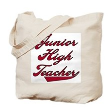 Junior HIgh Teacher Red Text Tote Bag