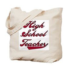 High School Teacher Red Text Tote Bag