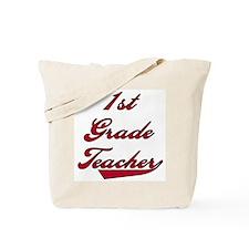 1st Grade Teacher Red Text Tote Bag