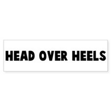 Head over heels Bumper Car Sticker