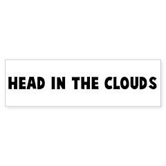 Head in the clouds Bumper Bumper Sticker