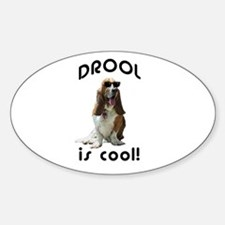 Drool is cool! Oval Decal