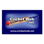 Cricket Web Rectangular Sticker