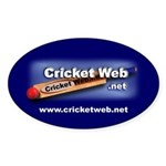 Cricket Web Oval Sticker