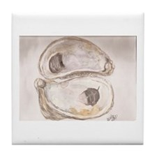 Balanced Oysters Tile Coaster