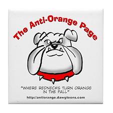 The Anti-Orange Page Tile Coaster