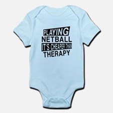 Awesome Netball Player Designs Infant Bodysuit