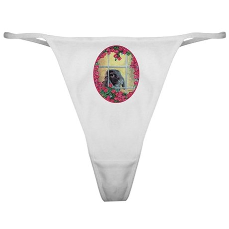 Lop Bunny & Flowers Classic Thong