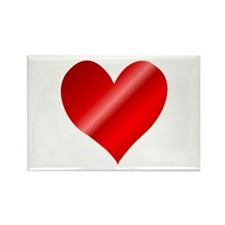 Big Red Heart Rectangle Magnet (100 pack)