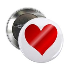 "Big Red Heart 2.25"" Button (100 pack)"