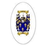 Shaw Coat of Arms Oval Sticker
