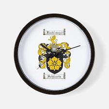 Schwartz Coat of Arms Wall Clock