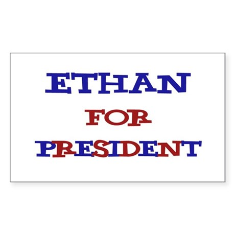 Ethan for President Rectangle Sticker