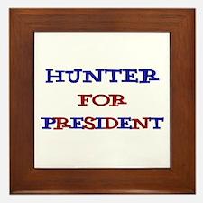Hunter for President  Framed Tile