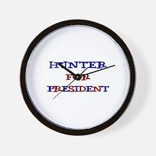 Hunter for President  Wall Clock