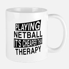Awesome Netball Player Designs Small Mugs