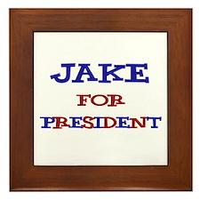 Jake for President  Framed Tile