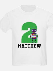 2nd Birthday Robot Personalized T-Shirt