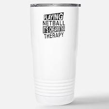 Awesome Netball Player Stainless Steel Travel Mug