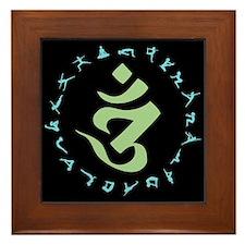 Om Symbol Framed Tile