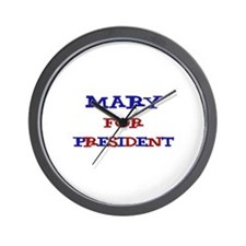 Mary for President Wall Clock