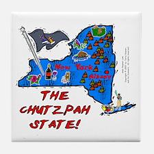 NY-Chutzpah! Tile Coaster