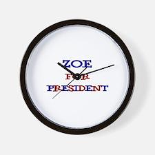Zoe for President Wall Clock
