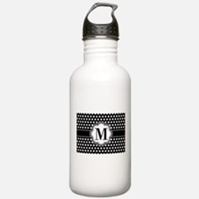 Black and White Chic P Water Bottle