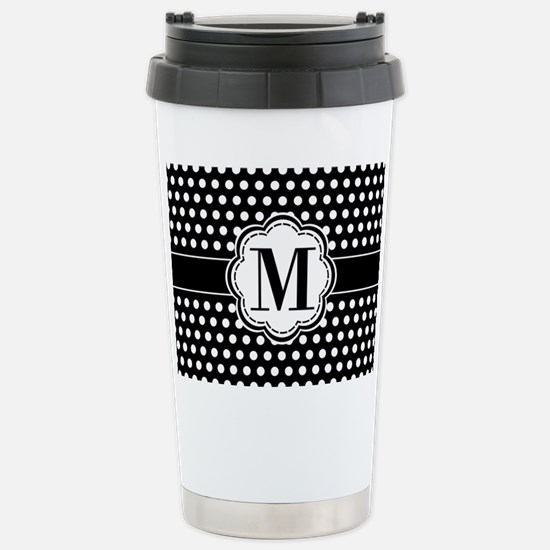 Black and White Chic Po Stainless Steel Travel Mug