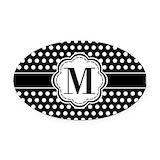 Monogram Oval Car Magnets