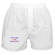 Skyler for President  Boxer Shorts