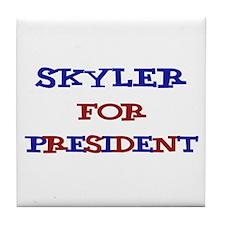 Skyler for President  Tile Coaster