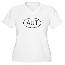 AUT Womes Plus-Size V-Neck T-Shirt