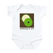cooking is art Infant Bodysuit