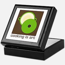 cooking is art Keepsake Box