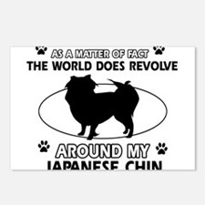 Japanese Chin Design Postcards (Package of 8)