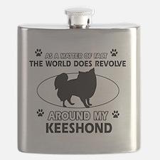 Keeshond Design Flask