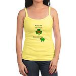 KISS ME IM IRISH AND FRENCH Jr. Spaghetti Tank Top