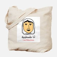 I am Palestinian - woman Tote Bag