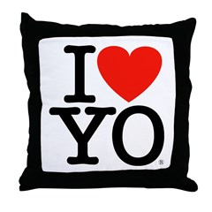 I (Heart) YO Throw Pillow