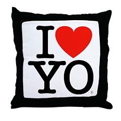 I (Heart) YO Throw Pillow