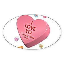 I Love YO-Candy Oval Decal