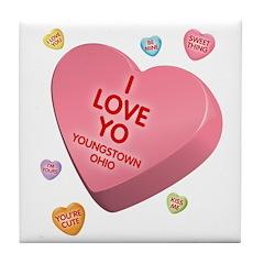 I Love YO-Candy Tile Coaster