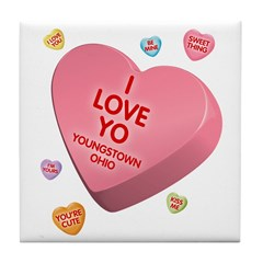 I Love YO-Candy Tile Coaster