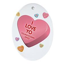 I Love YO-Candy Oval Ornament