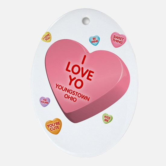 I Love YO-Candy Oval Ornament